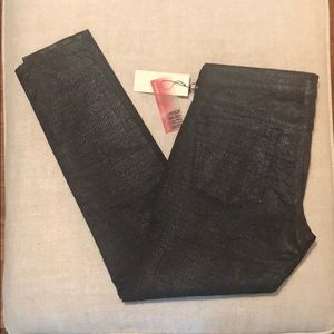 David Kahn Skinny Ankle Textured Jeans
